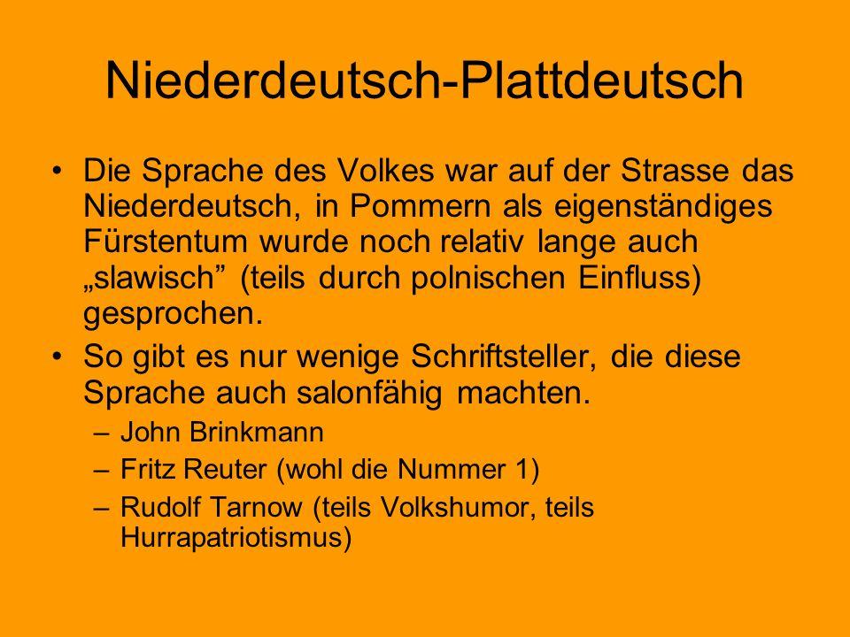 Niederdeutsch-Plattdeutsch
