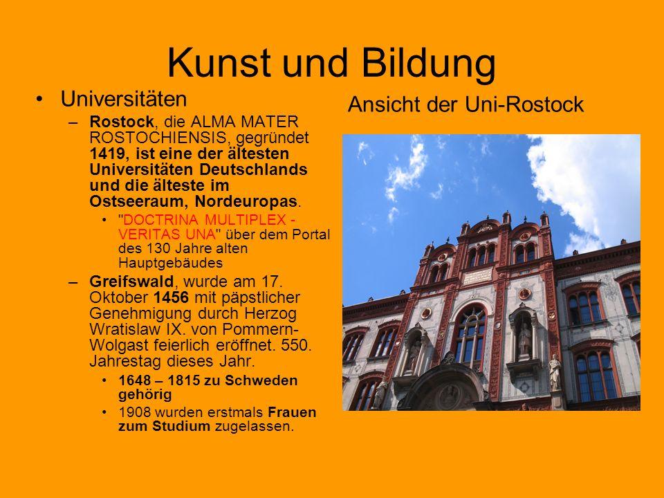 Kunst und Bildung Universitäten Ansicht der Uni-Rostock