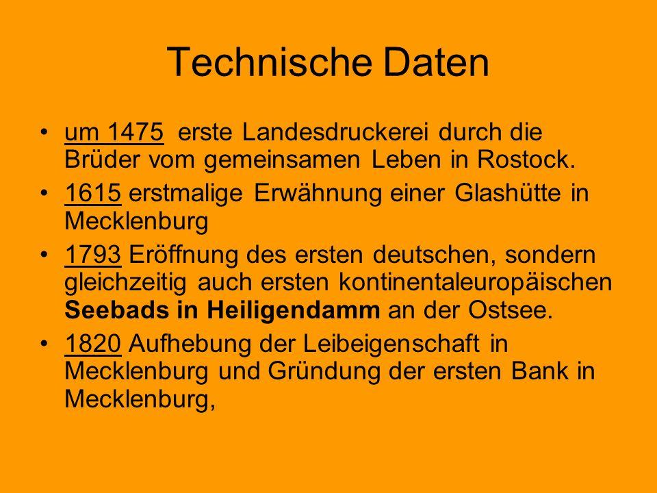 Technische Daten um 1475 erste Landesdruckerei durch die Brüder vom gemeinsamen Leben in Rostock.
