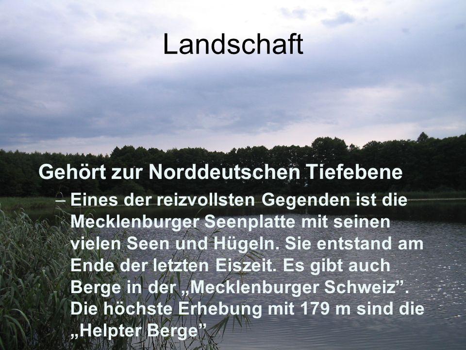 Landschaft Gehört zur Norddeutschen Tiefebene