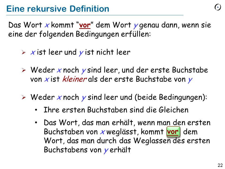 Eine rekursive Definition