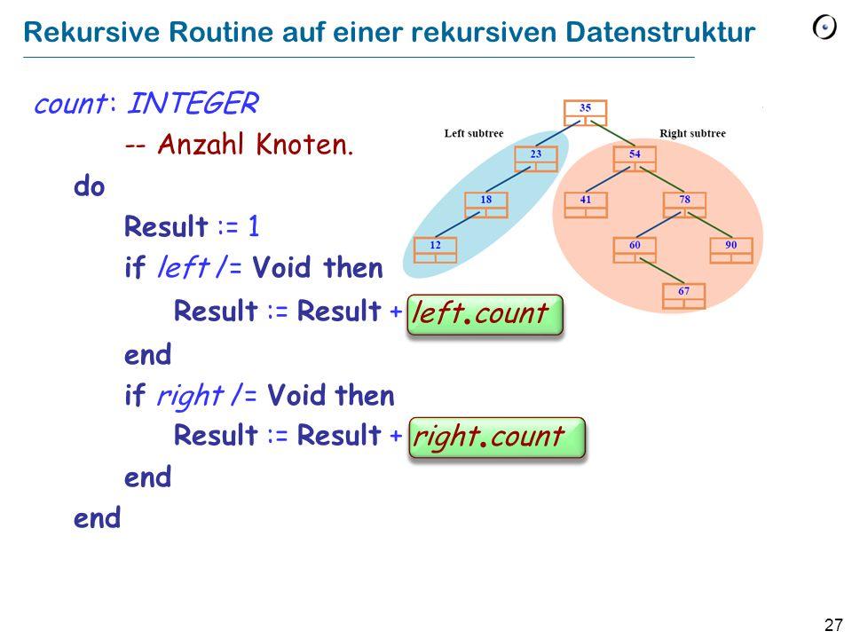 Rekursive Routine auf einer rekursiven Datenstruktur