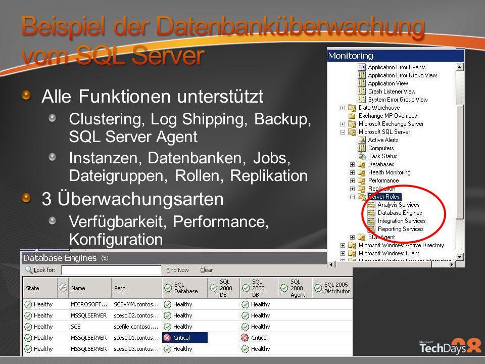 Beispiel der Datenbanküberwachung vom SQL Server