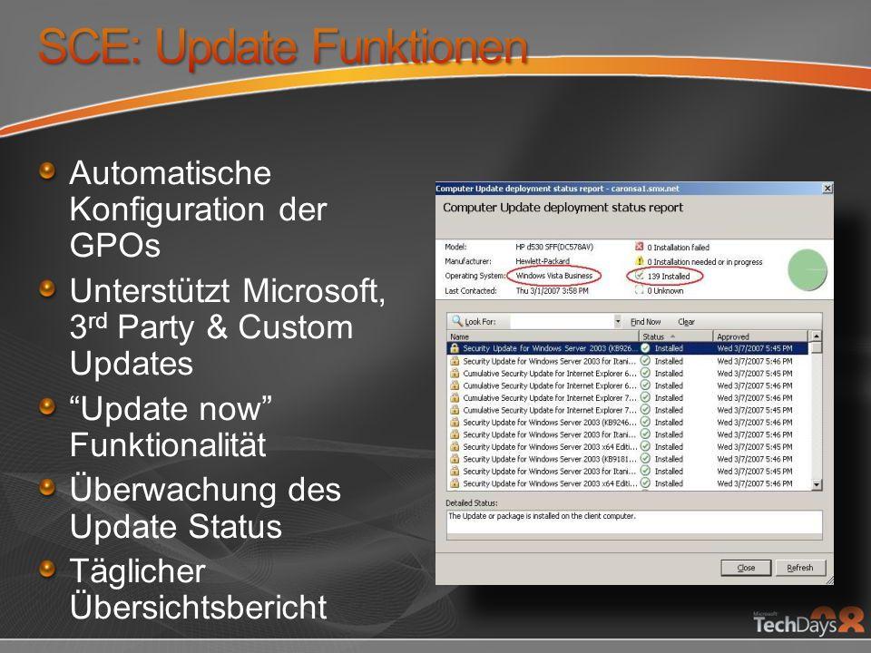 SCE: Update Funktionen