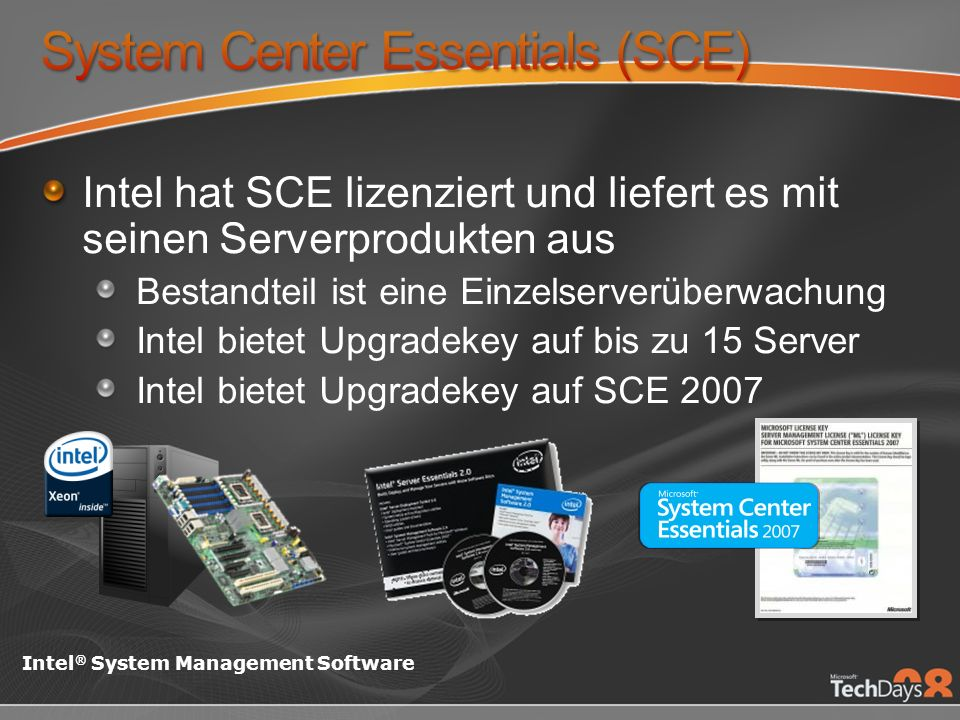 System Center Essentials (SCE)