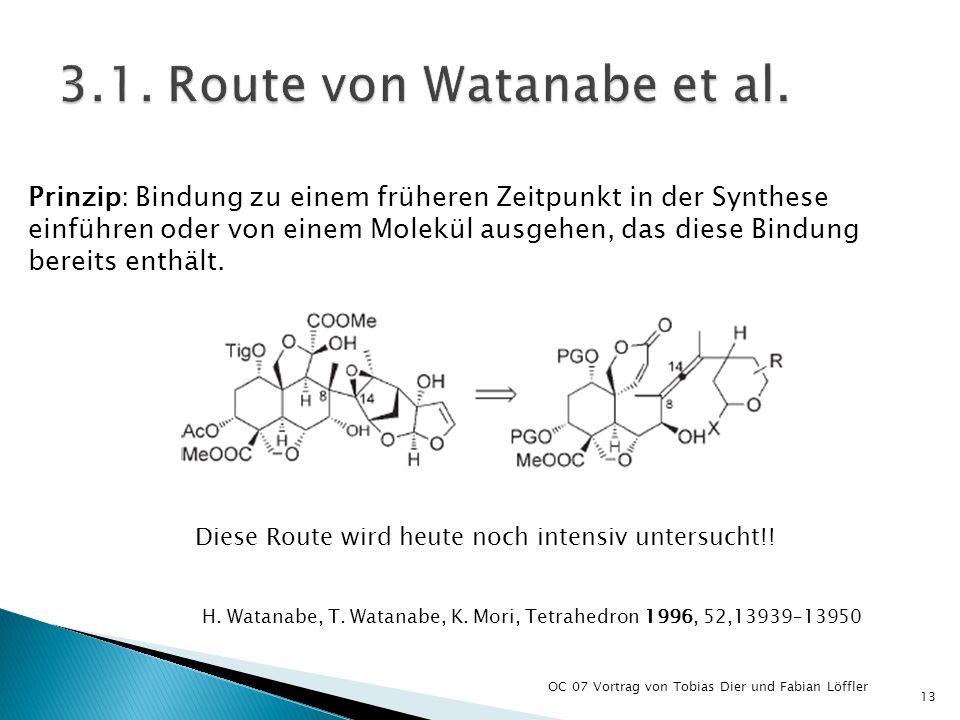3.1. Route von Watanabe et al.