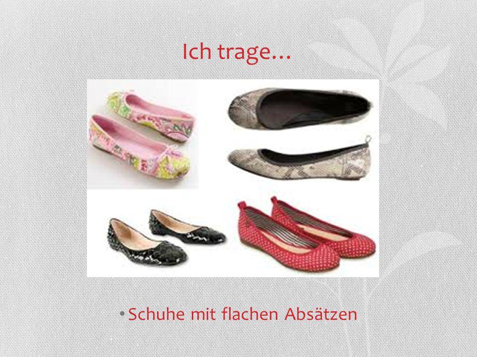 Schuhe mit flachen Absätzen
