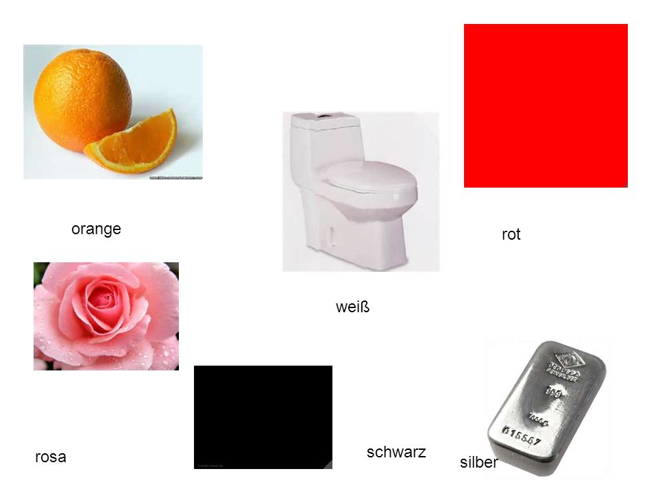orange rot weiß schwarz rosa silber