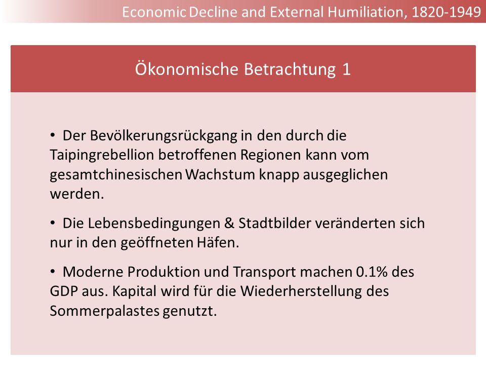 Ökonomische Betrachtung 1