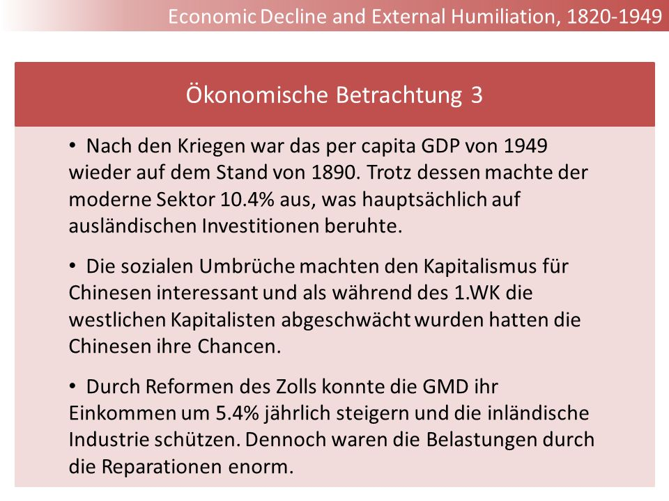 Ökonomische Betrachtung 3