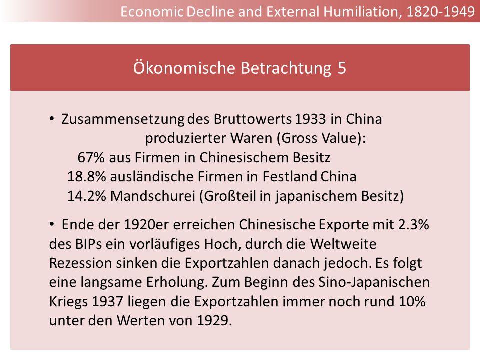Ökonomische Betrachtung 5