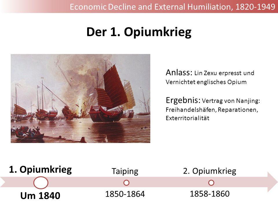 Der 1. Opiumkrieg 1. Opiumkrieg Um 1840