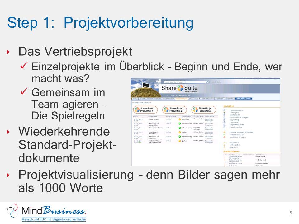 Step 1: Projektvorbereitung