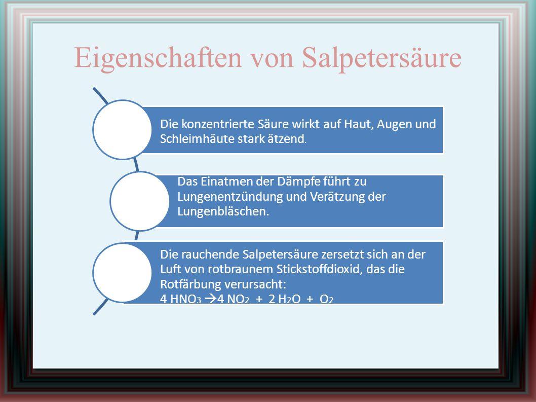 Eigenschaften von Salpetersäure