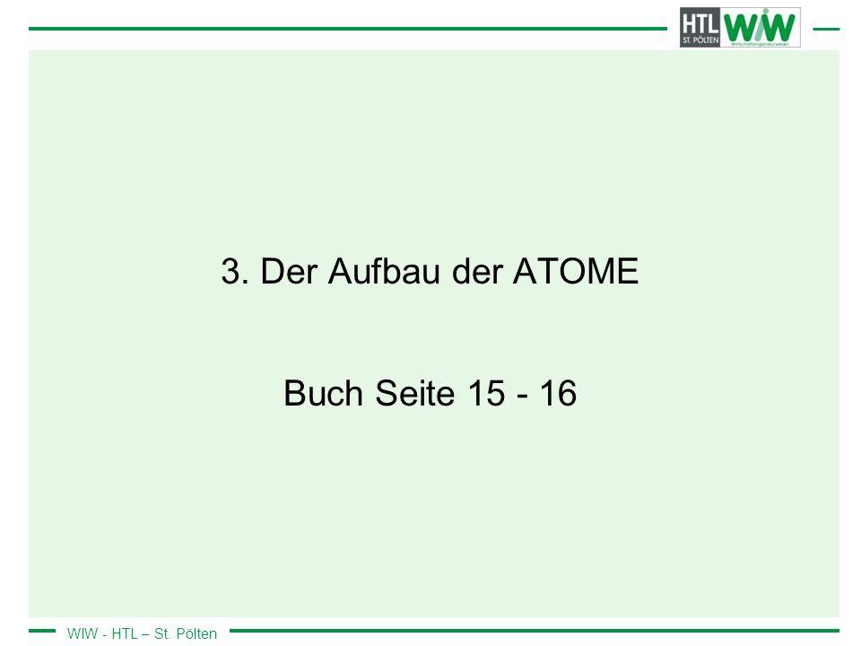 3. Der Aufbau der ATOME Buch Seite 15 - 16
