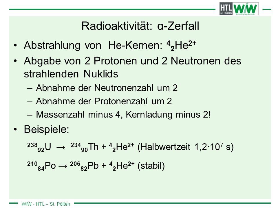 Radioaktivität: α-Zerfall