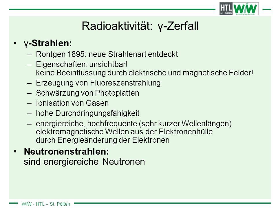 Radioaktivität: γ-Zerfall