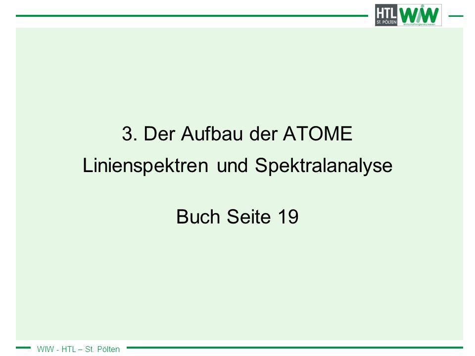 3. Der Aufbau der ATOME Linienspektren und Spektralanalyse