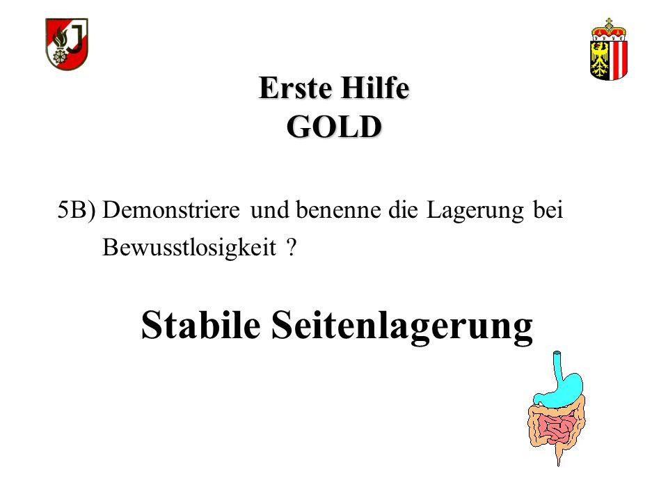 Stabile Seitenlagerung