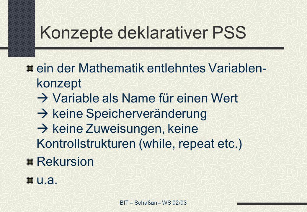 Konzepte deklarativer PSS