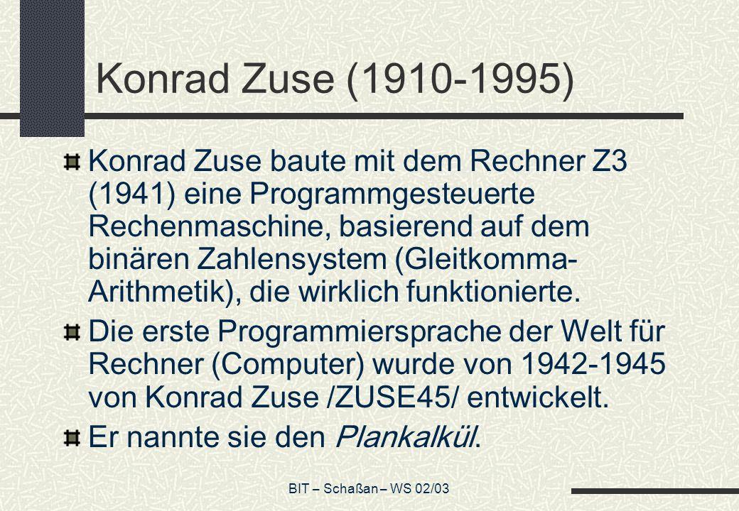 Konrad Zuse (1910-1995)