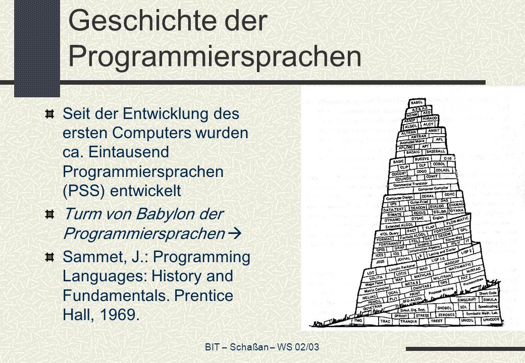 Geschichte der Programmiersprachen
