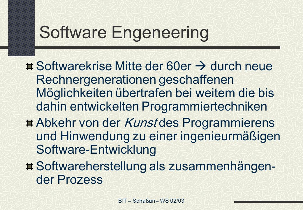 Software Engeneering