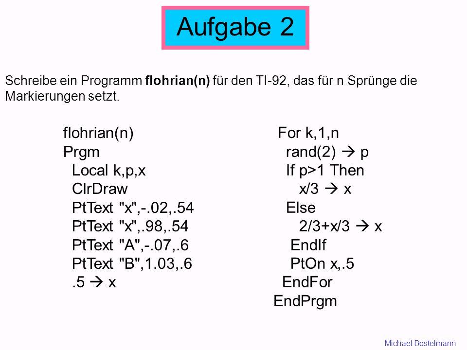 Aufgabe 2 flohrian(n) Prgm Local k,p,x ClrDraw PtText x ,-.02,.54