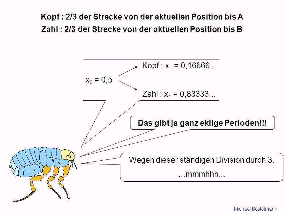 Kopf : 2/3 der Strecke von der aktuellen Position bis A