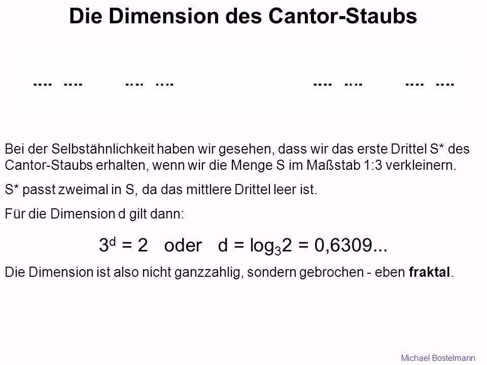 Die Dimension des Cantor-Staubs