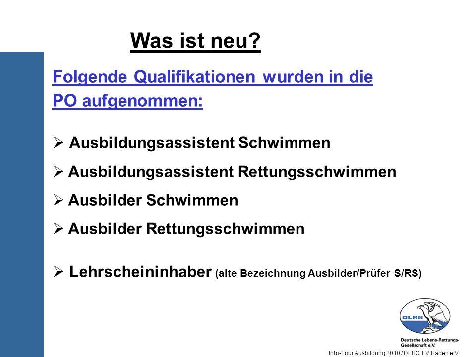 Was ist neu Folgende Qualifikationen wurden in die PO aufgenommen: