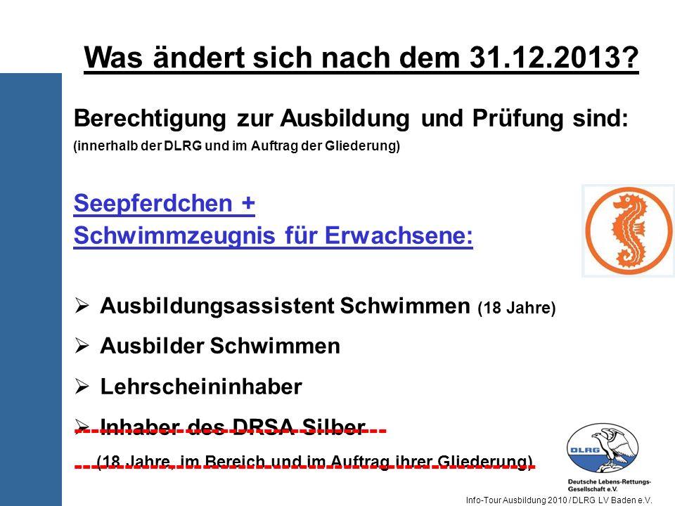 Was ändert sich nach dem 31.12.2013