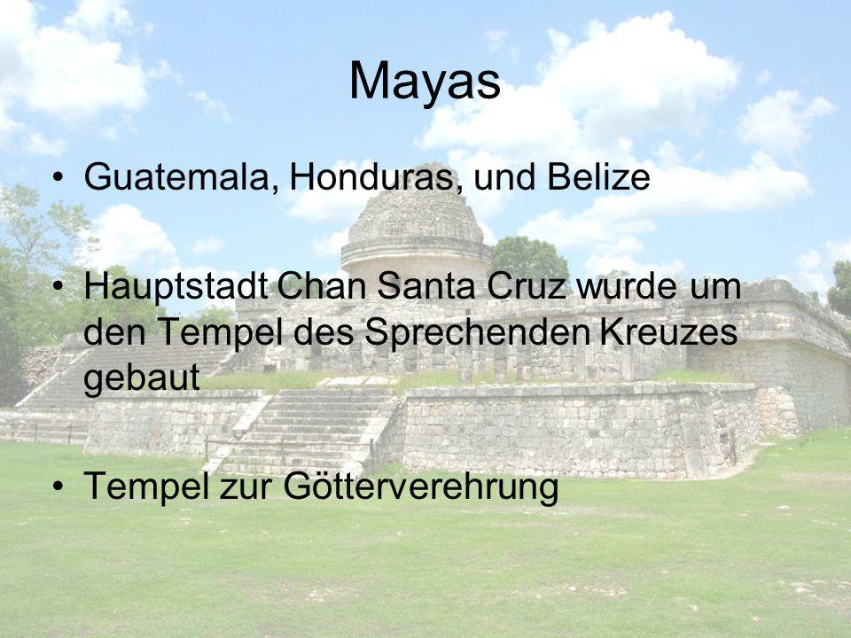 Mayas Guatemala, Honduras, und Belize