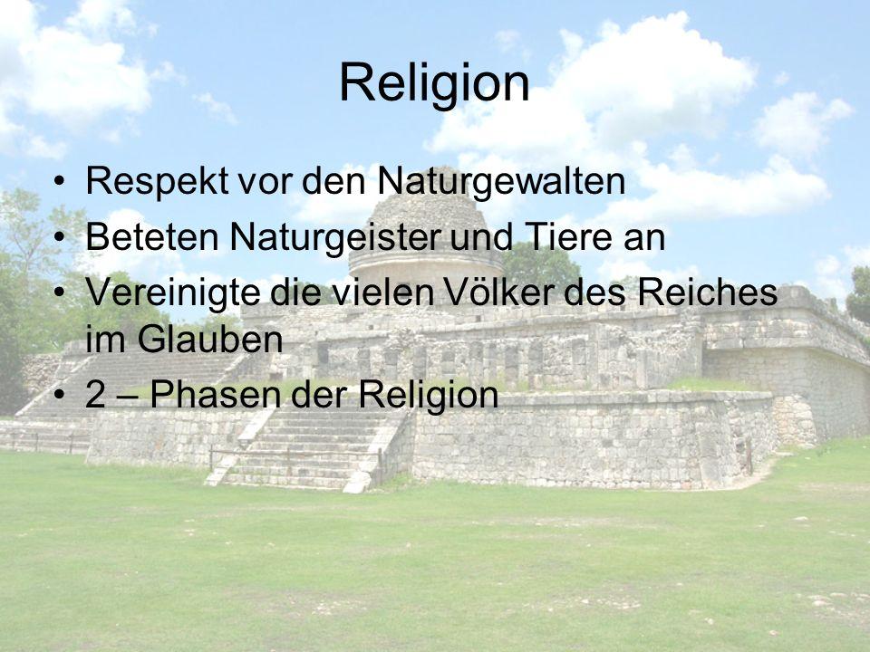 Religion Respekt vor den Naturgewalten