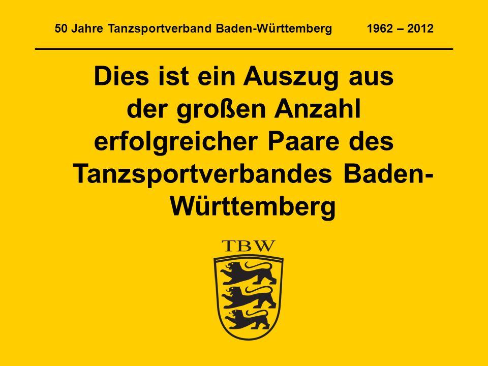 erfolgreicher Paare des Tanzsportverbandes Baden-Württemberg