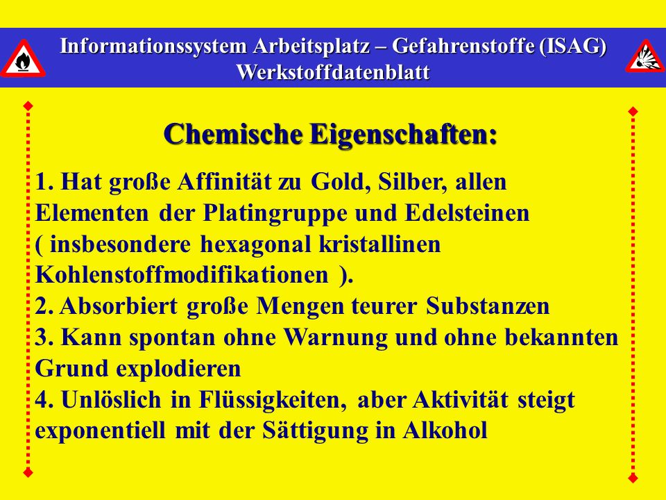 Chemische Eigenschaften: