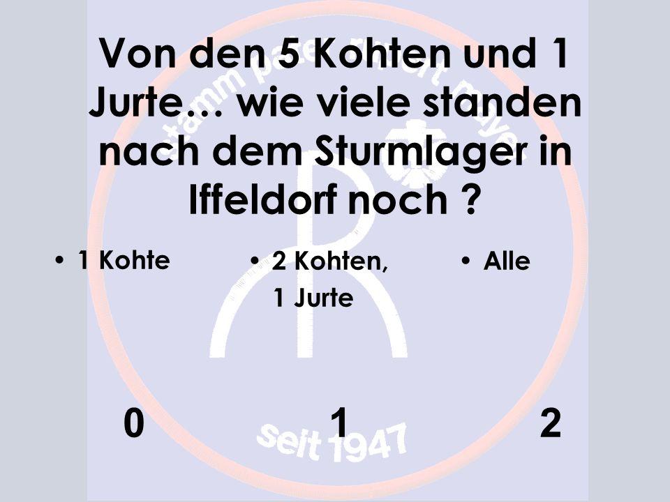 Von den 5 Kohten und 1 Jurte… wie viele standen nach dem Sturmlager in Iffeldorf noch