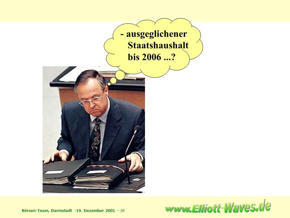 - ausgeglichener Staatshaushalt bis 2006 ...