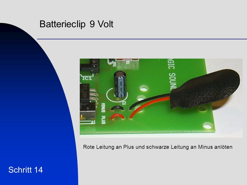 Batterieclip 9 Volt Schritt 14