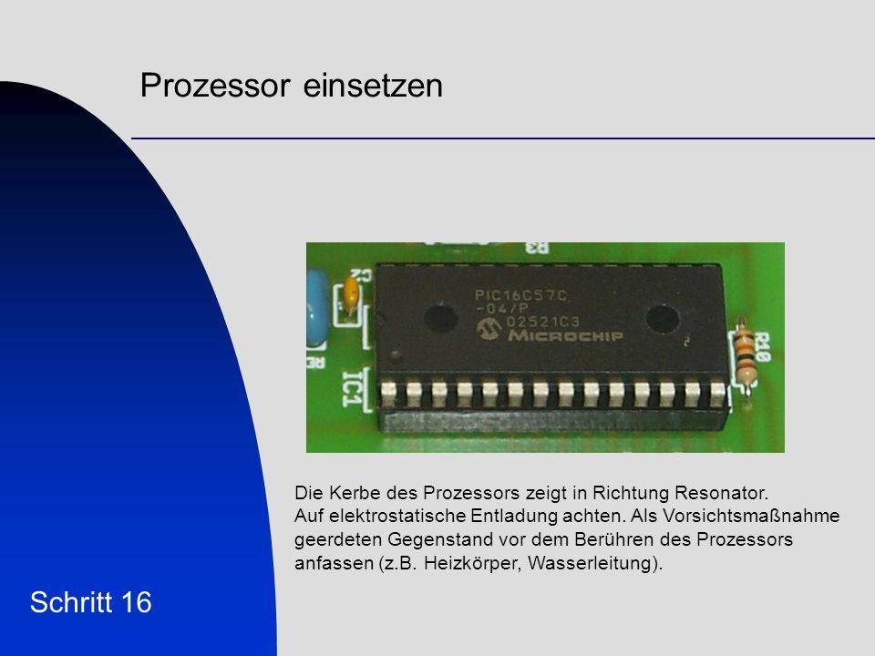 Prozessor einsetzen Schritt 16