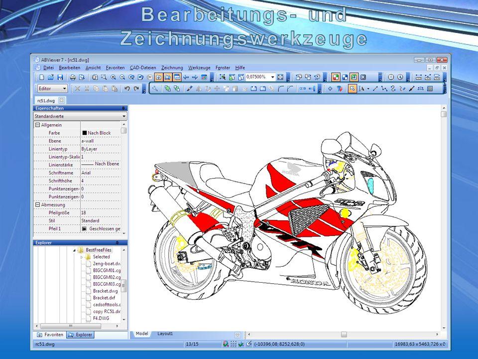 Bearbeitungs- und Zeichnungswerkzeuge