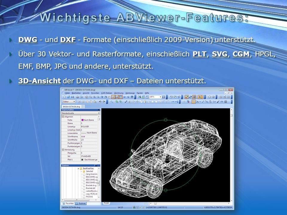 Wichtigste ABViewer-Features:
