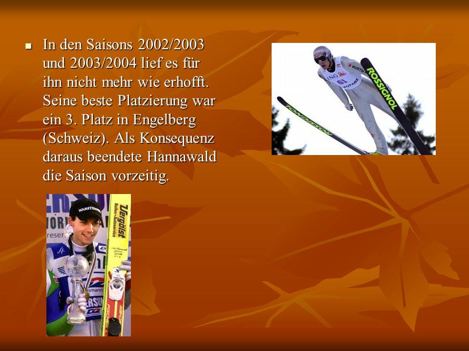 In den Saisons 2002/2003 und 2003/2004 lief es für ihn nicht mehr wie erhofft.