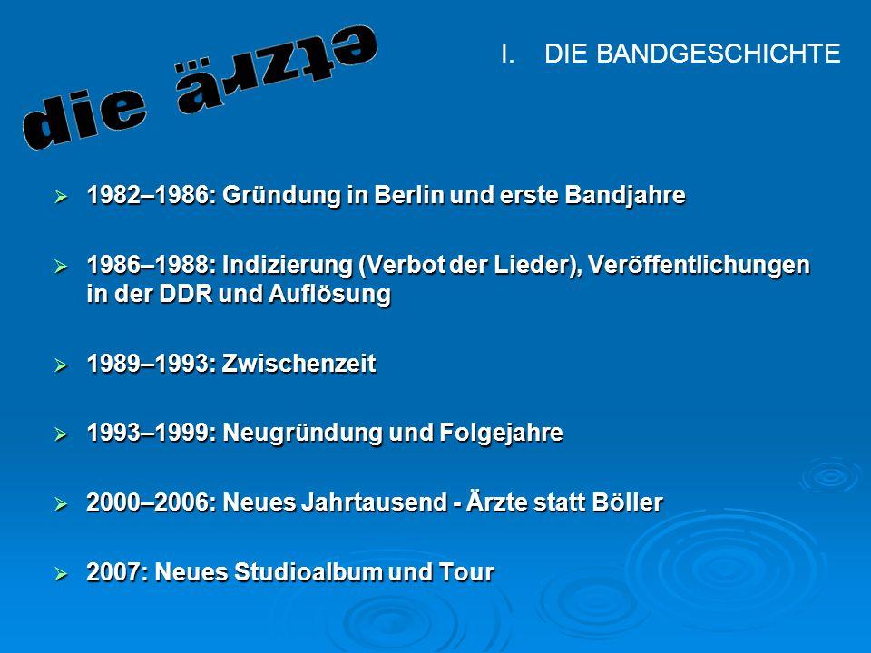 DIE BANDGESCHICHTE 1982–1986: Gründung in Berlin und erste Bandjahre