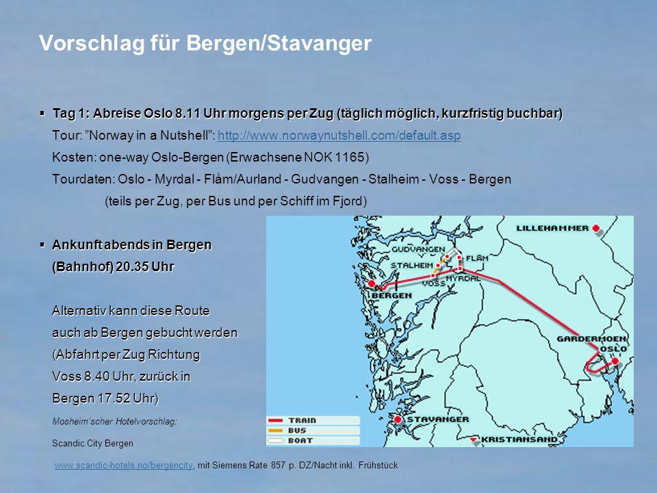 Vorschlag für Bergen/Stavanger