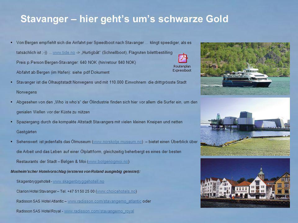 Stavanger – hier geht's um's schwarze Gold