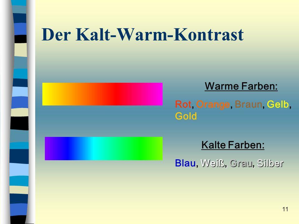 Der Kalt-Warm-Kontrast