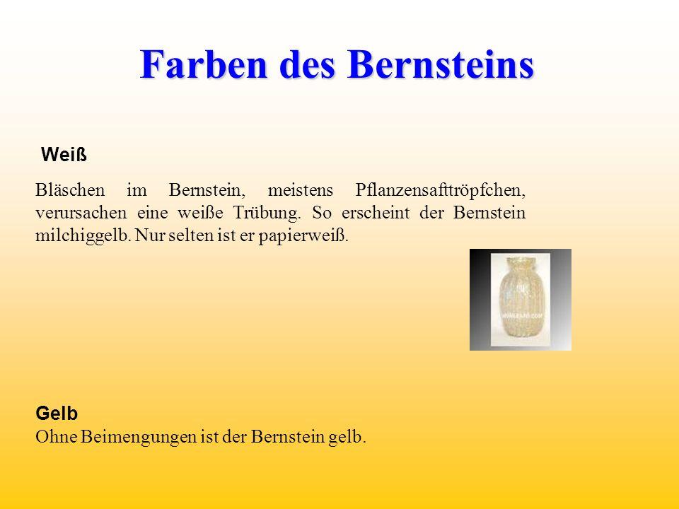 Farben des Bernsteins Weiß