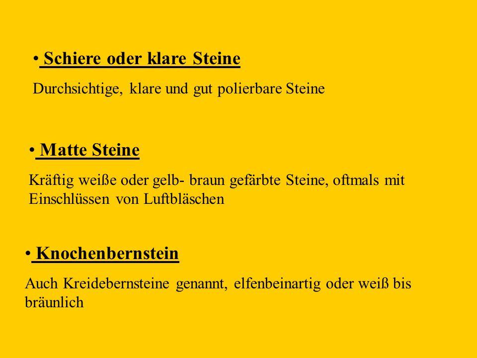 Schiere oder klare Steine