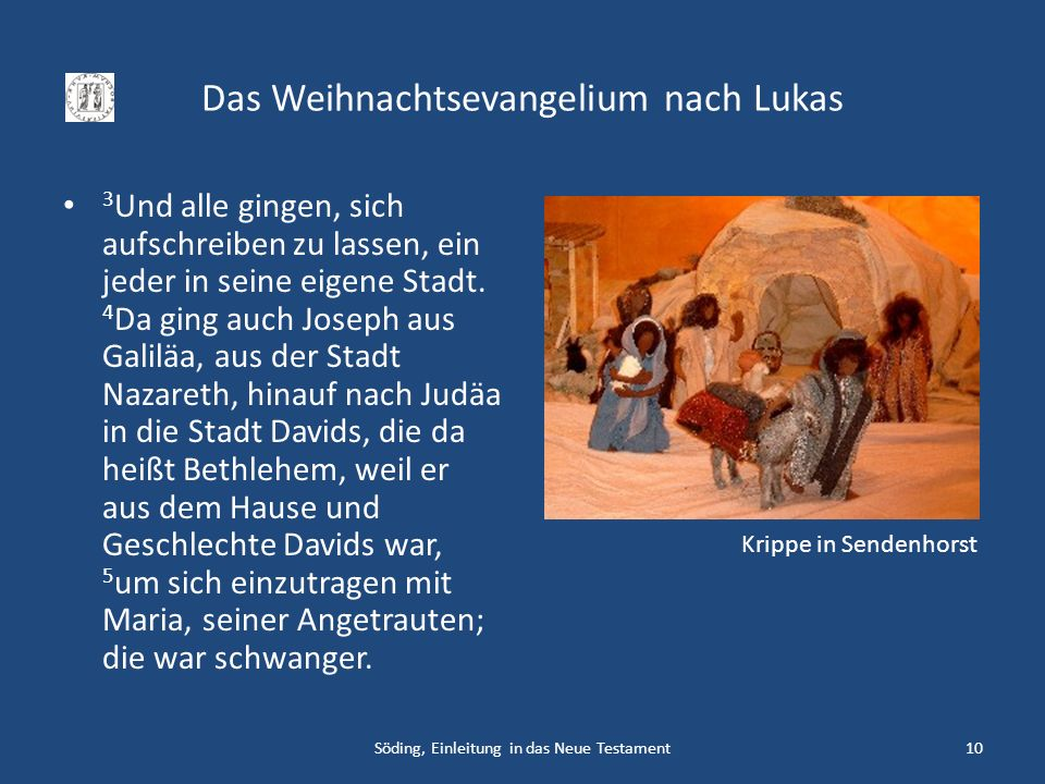 Das Weihnachtsevangelium nach Lukas